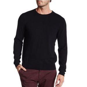 Qi Cashmere Crew Neck Long Sleeve Sweater Sz Lg